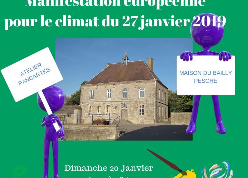 """Atelier """"pancartes"""" en vue de la marche européenne pour le climat"""